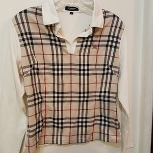 Tops - Burberry London plaid cotton top